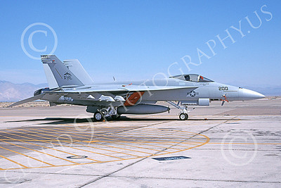 Boeing F-18E-USN 00013 A static Boeing F-18E Super Hornet USN VX-9 VAMPIRES XE code NAS China Lake 6-1999 military airplane picture by Michael Grove, Sr