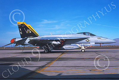 Boeing F-18E-USN 00079 A static Boeing F-18E Super Hornet USN VX-9 VAMPIRES XE code NAS Fallon 6-2002 military airplane picture by Michael Grove, Sr