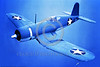F4U-USN 004 A flying Chance Vought F4U Corsair USN WWII era fighter USN photograph via Tailhook Col  produced by Cloud 9 Photography     DONEwt