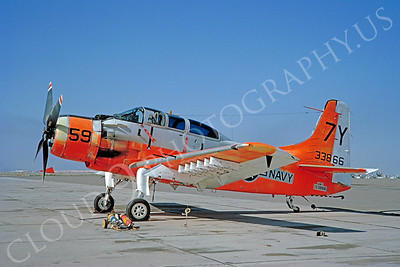 DG 00115 Douglas A-1 Skyraider US Navy 133866 March 1965 by Clay Jansson