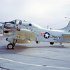A-1USN-VAW-113 0005 A static Douglas EA-1F Skyraider VAW-13 ZAPPERS VR code NAS Moffett 8-1967 military airplane picture by Peter B Lewis