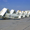 A-1USN-VA-152 0001 A static Douglas A-1H Skyraider USN 134569 VA-152 WILD ACES AH code USS Oriskany NAS Alameda 2-1968 military airplane picture by Peter B Lewis