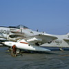 A-1USN-VA-115 0002 A static Douglas A-1H Skyraider USN 134568 VA-115 ARABS NH code USS Kitty Hawk 7-1963 military airplane picture by David W Lucabaugh