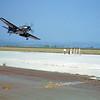 A-1USN-GENERIC 0002 A landing dark blue Douglas A-1 Skyraider USN NAS Moffett military airplane picture by W T Larkins