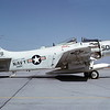 A-1USN-VA-115 0001 A static Douglas A-1 Skyraider USN 134588 VA-115 ARABS NF code USS Kitty Hawk NAS Lemoore 10-1966 military airplane picture by Duane A Kasulka