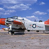 A-1USN-TEST 0005 A static Douglas EA-1F Skyraider USN 132532 D-M AFB 6-1971 military airplane picture by Peter B Lewis