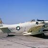 A-1USN-VA-152 0003 A static Douglas A-1J Skyraider USN 142051 VA-152 WILD ACES AH code USS Oriskany NAS Alameda 10-1964 military airplane picture by William L Swisher