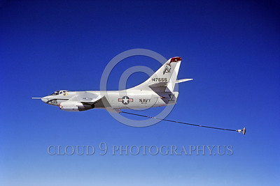 A-3-USN-VAW-308 002 A flying Douglas KA-3B Skywarrior, USN 147666, VAQ-308 GRIFFINS, Cold War era carrier based bomber modified to be aerial refueling tanker, 1985, by Robert L  Lawson, via Tailhook Col      DONEwt