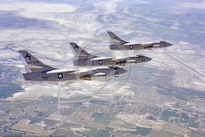 A-3-USN-VAW-208 002 Three flying Douglas A-3 Skywarriors, USN Cold War era carrier based bombers modified to be aerial refueling tankers, 1985, VAQ-208 JOCKEYS, by Robert L  Lawson, via Tailhook Col      DONEwt
