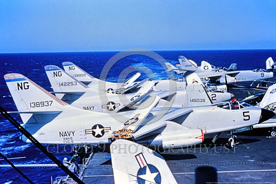 A-3-USN-VAH-6 001 A Douglas A-3 Skywarrior USN 138937 VAH-6 FLEURS NG code on an aircraft carrier with folded wings, USN photo via Tailhook Col, produced by www cloud9photography us     DONEwt