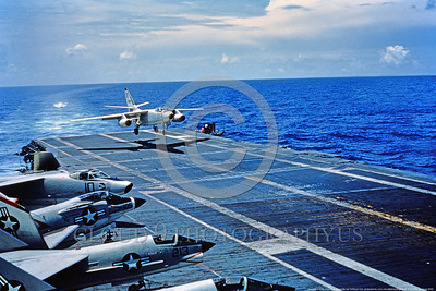 A-3-USN-ZB Code 0002 A Douglas A-3 Skywarrior USN Cold War era carrier based bomber ZB code lands on an aircraft carrier with folded wings, USN photo via Tailhook Col , produced by www cloud9photography us     DONEwt