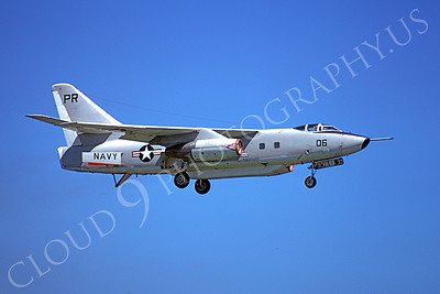 A-3USN 00002 A flying US Navy Douglas EA-3 Skywarrior just before landing on 14 August 1975, by Michael Grove, Sr