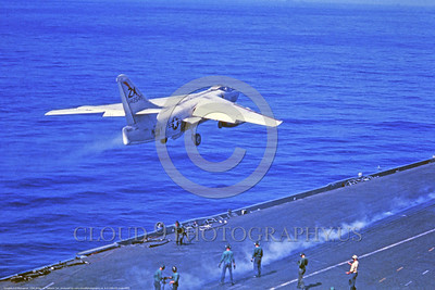 A-3-USN-ZA Code 0002 A Douglas A-3 Skywarrior USN 142647 Cold War era carrier based bomber ZA code launches from waist catapault of an aircraft carrier, USN photo via Tailhook Col , produced by www cloud9photography us     DONEwt