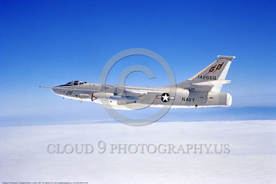 A-3-USN-VAQ-34 004 A flying Douglas RA-3B Skywarrior USN 142668 VAQ-34 FLASHBACKS modified Cold War era carrier based bomber, electronic warfare aircraft, 1987, by Robert L  Lawson, via Tailhook Col , produced by www cloud9photography us     DONEwt