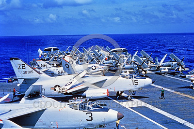 A-3-USN-VAH-4 001 A Douglas A-3 Skywarrior USN 138915 ZB code VAH-4 FORERUNNERS Cold War era carrier based strategic bomber on the flight deck of an aircraft carrier, USN photo via Tailhook Col, produced by www cloud9photography us     DONEwt