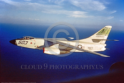 A-3-USN-VAH-9 0002 A flying Douglas A-3 Skywarrior USN 138929 VAH-9 HOOT OWLS AC code Cold War era carrier based bomber, USN photo via Tailhook Col , produced by www cloud9photography us     DONEwt