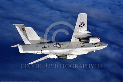 A-3-USN-VAQ-34 008 A flying Douglas RA-3B Skywarrior USN 144838 VAQ-34 FLASHBACKS modified Cold War era carrier based bomber, electronic warfare aircraft, 1987, by Robert L  Lawson, via Tailhook Col , produced by www cloud9photography us     DONEwt