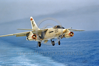 A-3-USN-Generic 0010 A Douglas A-3 Skywarrior USN Cold War era carrier based bomber landing on an aircraft carrier, USN photo via Tailhook Col , produced by www cloud9photography us     DONEwt