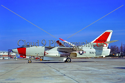 A-3-USN-Test 002 A static Douglas A-3B Skywarrior USN carrier based jet bomber 142246 NATC NAS Pax River 3-1973 military airplane picture by Stephen W  D  Wolf     11A_8107     DoneWT