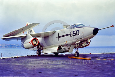 A-3-USN-VAH-10 001 A Douglas KA-3B Skywarrior USN aerial refuler 142253 VAH-10 VIKINGS on JFK at Naples 1969, military airplane picture by Bruce Wilson via Stephen W  D  Wolf coll      853_9115     DoneWT
