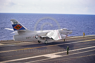 A-3-USN-VQ-1 001 A Douglas EA-3 Skywarrior USN PQ-1 WORLD WATCHERS fleet air recon signal intelligence Cold War era airplane on the USS Ranger, USN photo via Tailhook Col , produced by www cloud9photographyus      DONEwt