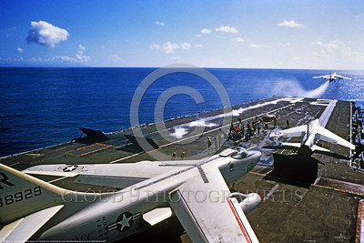 A-3-USN-Generic 007 A Douglas A-3 Skywarrior USN Cold War era carrier based bomber on an aircraft carrier waiting for take-off, USN photo via Tailhook Col , produced by www cloud9photography us     DONEwt