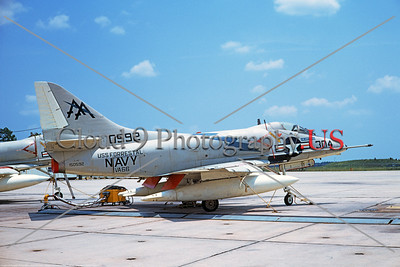 A-4USN-VA-66 003 A static Douglas A-4C Skyhawk attack jet US Navy 150592 VA-66 WALDOMEN USS Forrestal NAS Lemoore 7-1970 military airplane picture by Duane A Kasulka     DT copy