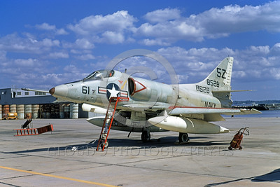 A-4USN-Generic 0001 A static US Navy Douglas A-4 Skyhawk attack jet 148528 5Z code NAS Jax 5-1972 military airplane picture by L B Sides