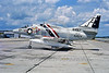 A-4USN-VC-2 0002 A static Douglas A-4C Skyhawk USN 140497 VC-2 FALCONS JE code 1976 military airplane picture by Michael Grove