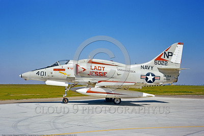 "A-4USN-VA-164 0001 A static Douglas A-4F USN attack jet 155022 VA-164 GHOST RIDERS USS Hancock ""LADY JESSIE"" NAS Lemoore 7-1974 military airplane picture by Michael Grove"