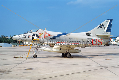 A-4USN-VA-66 001 A static Douglas A-4C Skyhawk attack jet US Navy 149601 VA-66 WALDOMEN USS Forrestal NAS Lemoore 6-1969 military airplane picture by Duane A Kasulka     DT copy