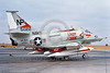 "A-4USN-VA-164 0002 A static Douglas A-4F USN attack jet 155022 VA-164 GHOST RIDERS USS Hancock ""LADY JESSIE"" NAS Lemoore 7-1974 military airplane picture by Michael Grove"