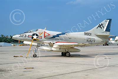 A-4USN 00197 A static Douglas A-4C Skyhawk attack jet US Navy 149601 VA-66 WALDOMEN USS Forrestal NAS Lemoore 6-1969 military airplane picture by Duane A Kasulka