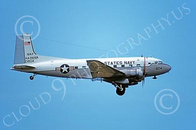 C-117USN 00020 A landing Douglas C-117 USN 0804 NAF Kadena 7-1978 military airplane picture by Harold Gergins