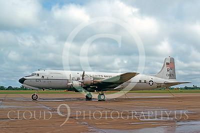 C-118USN 00003 Douglas C-118B Skymaster US Navy 131571 VR-53 NAS Mephis 4 August 1975 by Lindell H Reynolds