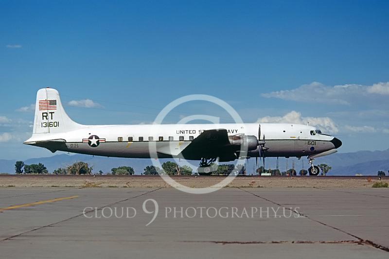C-118-USN 00001 Douglas C-118 Skymaster US Navy # 13160 Fallon 7 July 1977 by Peter B Lewis