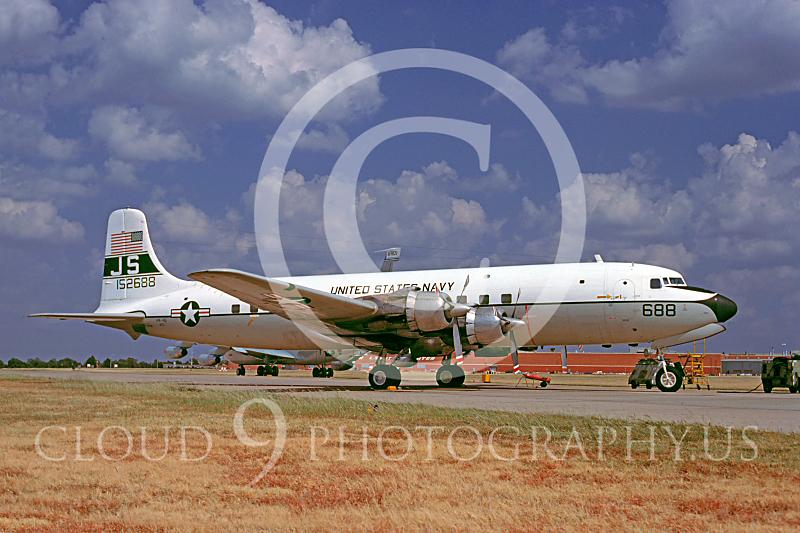 C-118USN 00007 Douglas C-118 Skymaster US Navy 152688 11 September 1982 by Charles E Stewart