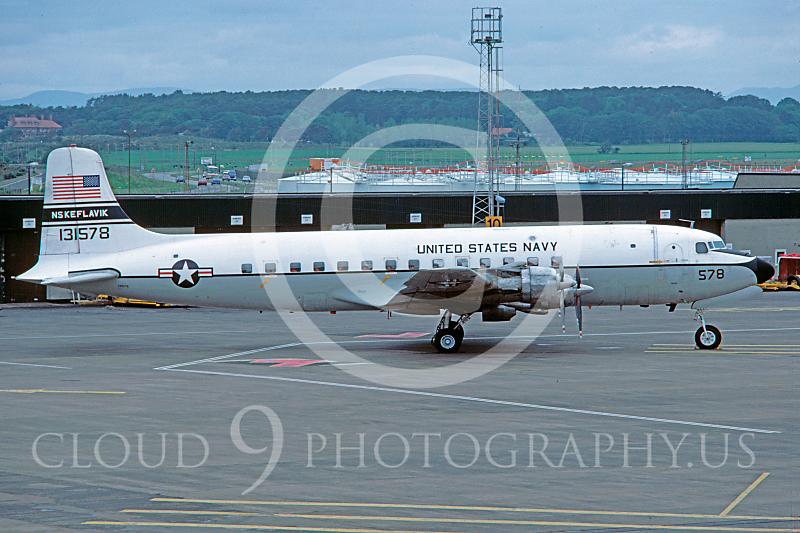 C-118USN 00005 Douglas C-118 Skymaster US Navy 131578 NAS Keflavik July 1984 via African Aviation Slide Service