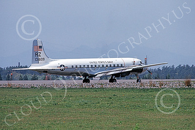C-118USN 00031 A static Douglas C-118 Liftmaster USN 131609 RZ code military airplane picture by Oscar Barnes