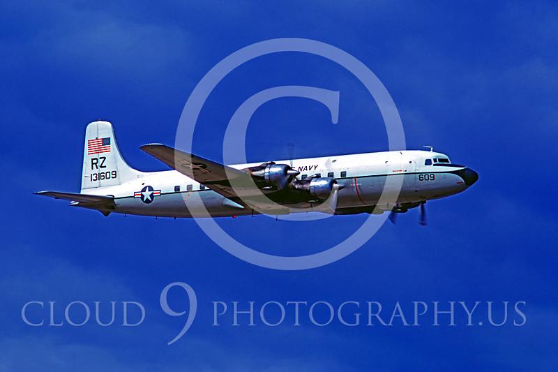 C-118USN 00004 Douglas C-118B Skymaster VR-21 US Navy 131609 3 July 1975 NAS Atsugi by Masumi Wada