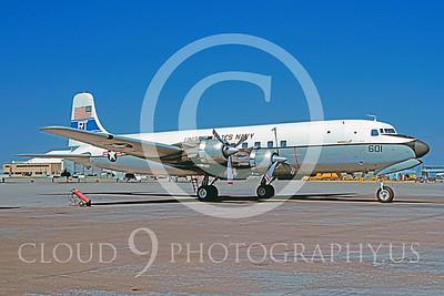 C-118USN 00009 Douglas C-118 Skymaster US Navy VR-53 18 March 1981 by Charles E Stewart
