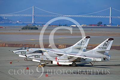 KA-3 00001 Douglas KA-3B Skywarrior  #147656 VAK-308 Alameda 1985 by Peter J Mancus