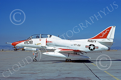 TA-4USN 00098 A static Douglas TA-4J Skyhawk jet attack trainer US Navy 158508 VT-22 GOLDEN EAGLES NAS Alameda 3-1973 military airplane picture by Michael Grove, Sr