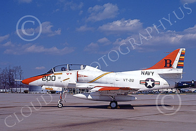 TA-4USN 00095 A static Douglas TA-4J Skyhawk jet attack trainer US Navy 155073 VT-22 GOLDEN EAGLES commanding officer's Andrews AFB 21 March 1981 military airplane picture by Rick Burgess