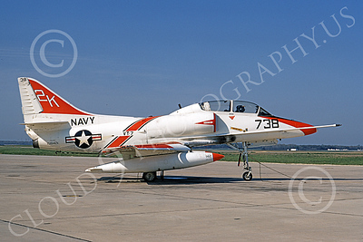 TA-4USN 00513 A static Douglas TA-4J Skyhawk jet attack trainer US Navy 158142 VT-7 EAGLES Andrews AFB 29 April 1972 military airplane picture by Michael Grove, Sr
