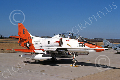 TA-4USN 00515 A static Douglas TA-4J Skyhawk jet attack trainer US Navy TW-2 USS Forrestal NAS Willow-Grove 29 Feb 1992 military airplane picture by Barry E Roop