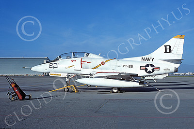 TA-4USN 00097 A static Douglas TA-4J Skyhawk jet attack trainer US Navy 155084 VT-22 GOLDEN EAGLES NAS Moffett 4-1977 military airplane picture by Michael Grove, Sr