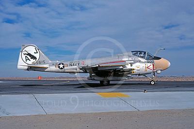 A-6USN 00019 Grumman A-6E Intruder USN 155615 VA-35 USS Nimitz January 1981 Fallon by Michael Grove, Sr