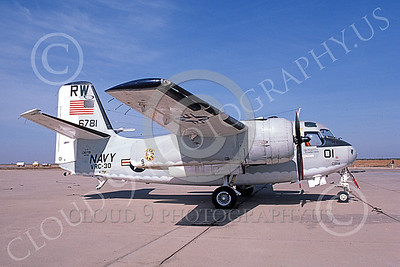 C-1USN 00025 A static Grumman C-1A Trader USN 13678 VRC-30 PROVIDERS Shafter 11-1986 military airplane picture by Michael Grove, Sr