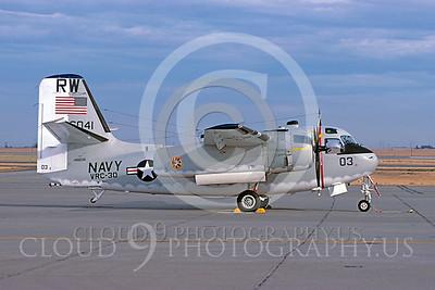C-1USN 00003 Grumman C-1A Trader US Navy 146041 VRC-30 12 August 1984 Travis AFB by Carl E Porter